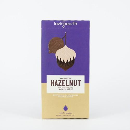 Loving Earth Hazelnut Mylk Chocolate 3x80g - GoodnessMe
