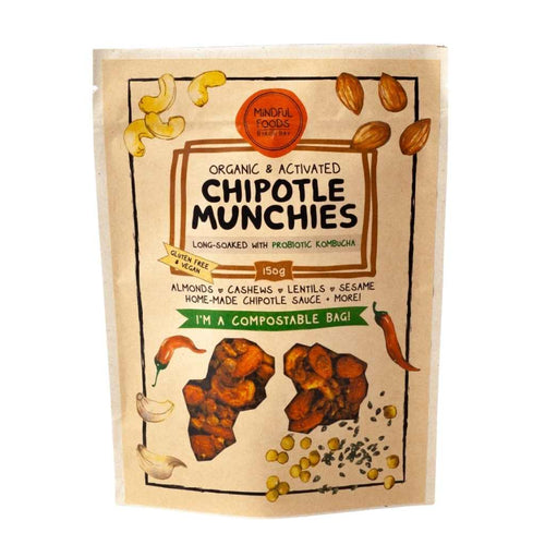 Mindful Foods Organic & Activated Chipotle Munchies 150g