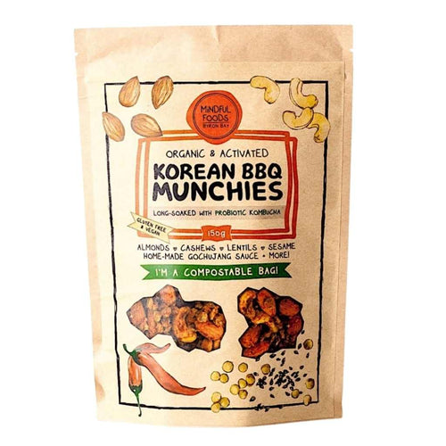 Mindful Foods Organic & Activated Korean BBQ Munchies 150g