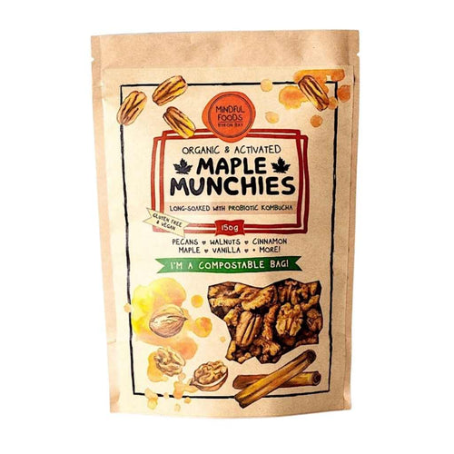 Mindful Foods Organic & Activated Maple Munchies 150g