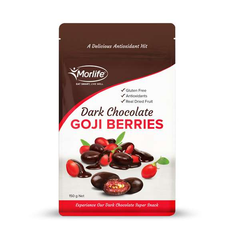 Morlife Dark Chocolate Coated Goji Berries 150g Pack