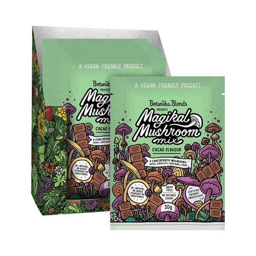 Botanika Blends Magical Mushroom Mix Cacao 16x 10g Sachets - GoodnessMe