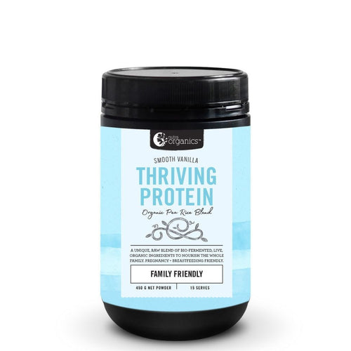 Nutra Organics	Thriving Protein Smooth Vanilla 450g - GoodnessMe