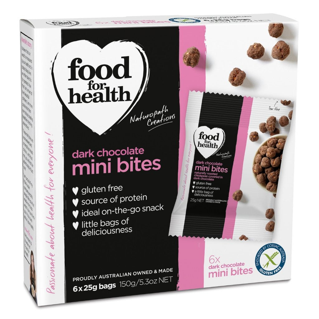 Food for Health Pty Ltd Dark Chocolate Mini Bites 150g