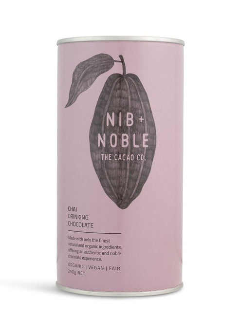 Nib and Noble Chai Organic Drinking Chocolate of 8 x 250g Box