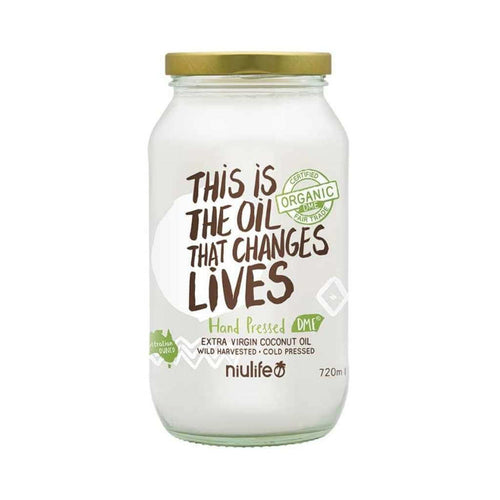 Niulife Certified Organic Extra Virgin Coconut Oil 720ml
