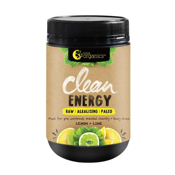Nutra Organics Clean Energy Lemon + Lime 150g Powder