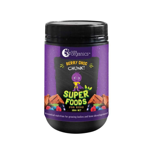 Nutra Organics Super Foods for Kidz Berry Choc Chunk 150g