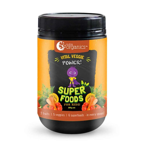 Nutra Organics Super Foods for Kidz Vital Veggie Power 300g