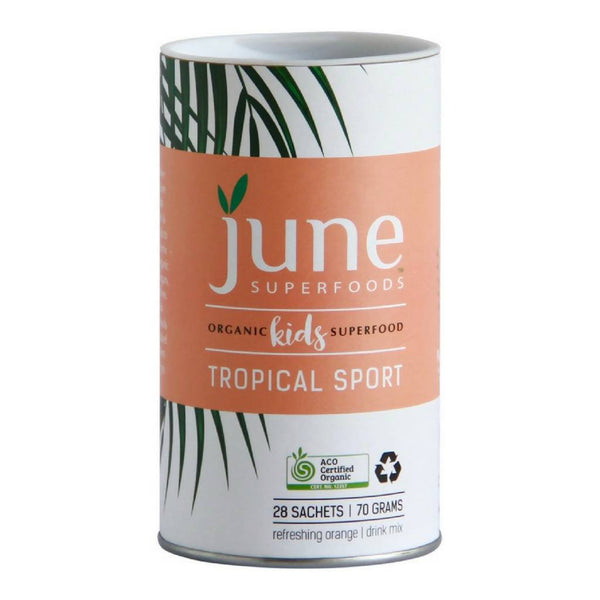June Superfoods Organic Kids Superfoods Tropical Sport 70g