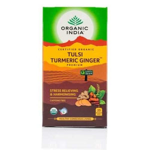 Organic India Tulsi Turmeric Ginger x 25 Tea Bags