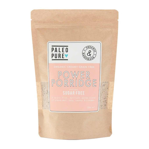 Paleo Pure Organic Creamy Grain Free Power Porridge Sugar Free 300g