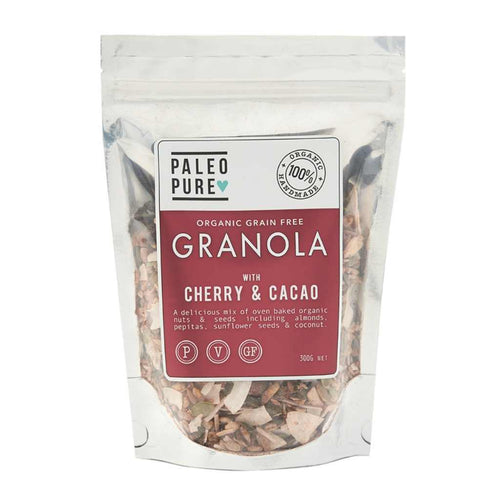 Paleo Pure Organic Grain Free Granola with Cherry & Cacao 300g