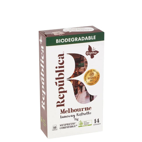 Republica Organic	Melbourne Laneway Ristretto Biodegradable Pods 55g