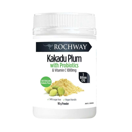 Rochway Kakadu Plum with Probiotics (5 billion CFU) & Vitamin C 90g