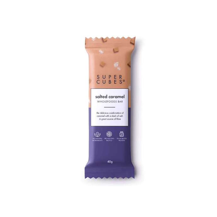 Super Cubes Salted Caramel Bar 10x 40g - GoodnessMe