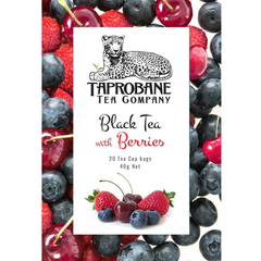 Taprobane Tea Company Black Tea with Berries 12 x 40g