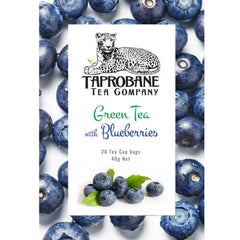 Taprobane Tea Green Tea with Blueberries 12 x 40g