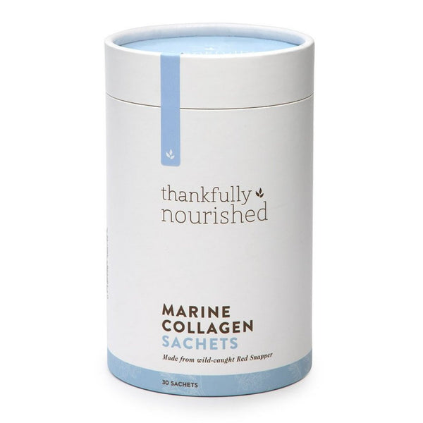 Thankfully Nourished Marine Collagen Sachets 3-pack (3 x tubs of 30 sachets each)