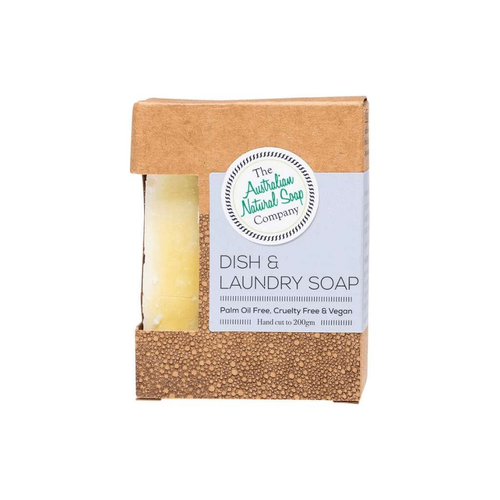 The Australian Natural Soap Co Dish & Laundry Soap Bar 200g - GoodnessMe