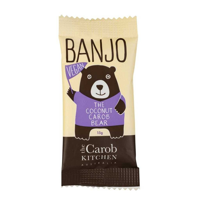 The Carob Kitchen Banjo Bear Vegan Coconut 25x 15g