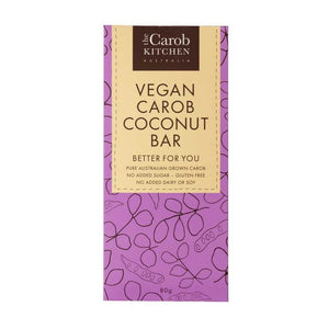 The Carob Kitchen Carob Vegan Coconut Bar 6x 80g