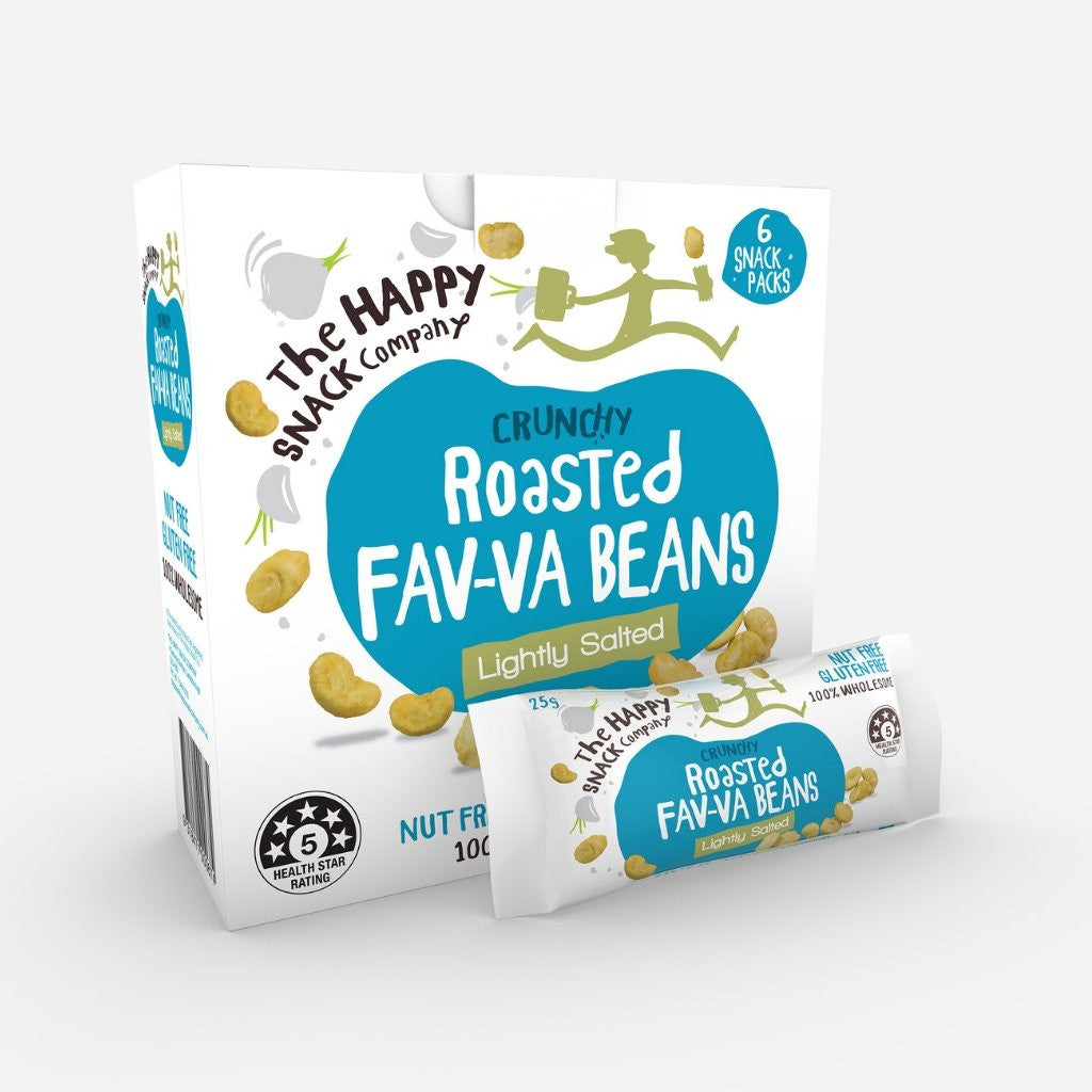 The Happy Snack Company Fav-va Beans Lightly Salted 150g