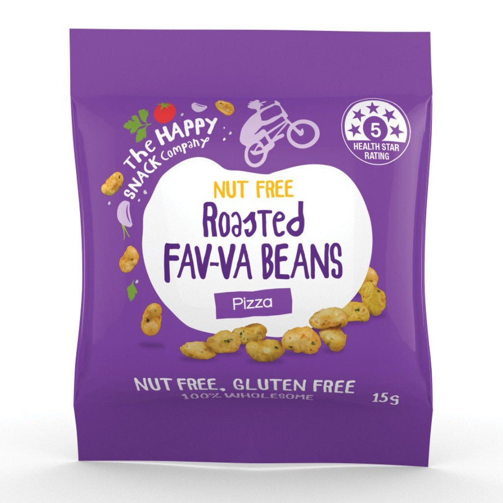 The Happy Snack Company Kids Roasted Fav-va Beans Pizza 15g