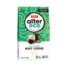 Load image into Gallery viewer, GoodnessMe Market Alter Eco Organic Chocolate Truffles Dark Mint Cream 108g