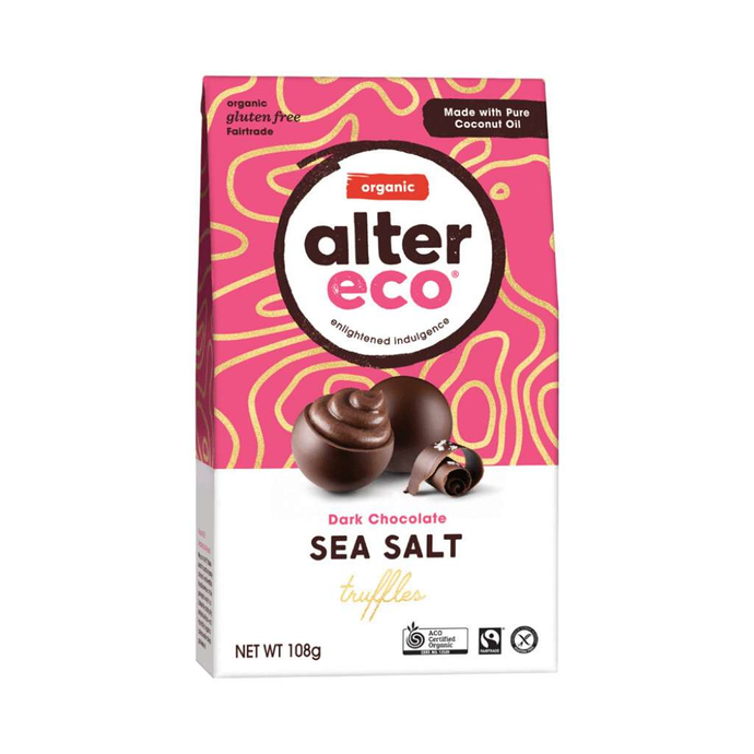 GoodnessMe Market Alter Eco Organic Chocolate Truffles Dark Sea Salt