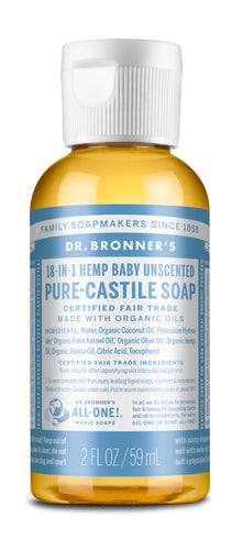 Dr Bronners Pure Castile Soap - Baby Unscented