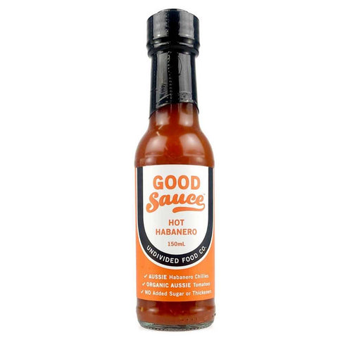 Undivided Food Co Good Sauce Hot Habanero 150mL