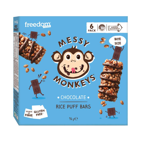 Freedom Foods Messy Monkeys Chocolate Rice Puff Bars - GoodnessMe