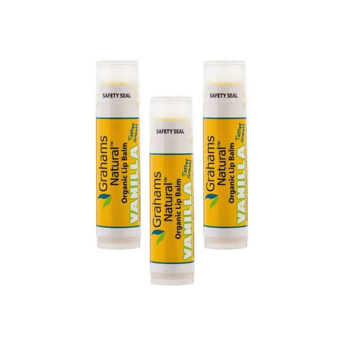 Grahams Natural Organic Lip Balm Vanilla 3x 4.25g