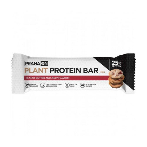 PranaOn Plant Protein Bar Peanut Butter and Jelly 12x 40g