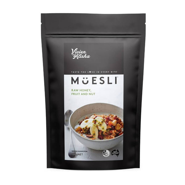 Vivien and Alisha Muesli 3 x 400g Packs (Raw Honey, Fruit and Nut)