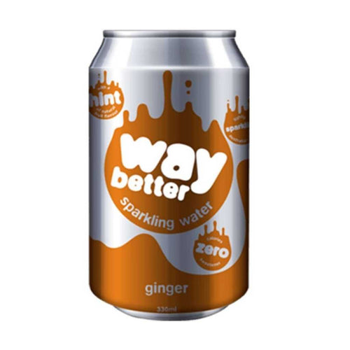 Way Better Ginger Sparkling Water 12x 330mL
