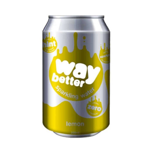 Way Better Lemon Sparkling Water 12x 330mL