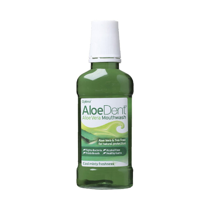 Aloe Dent Mouthwash Aloe Vera & Tea Tree - GoodnessMe