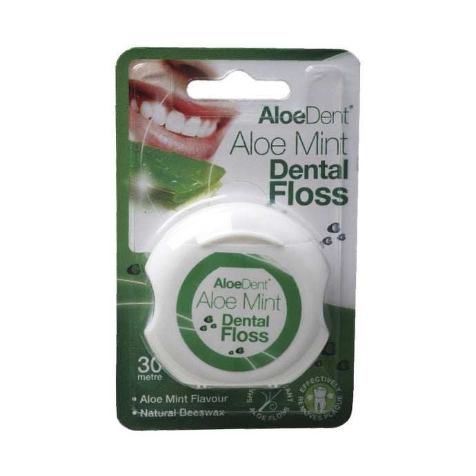 Aloe Dent Dental Floss Aloe & Mint - GoodnessMe