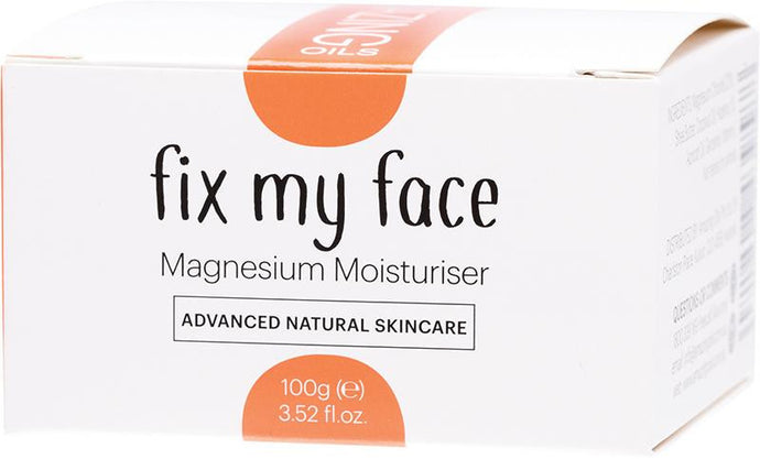 Amazing Oils Fix My Face - Magnesium Moisturiser 100g - GoodnessMe