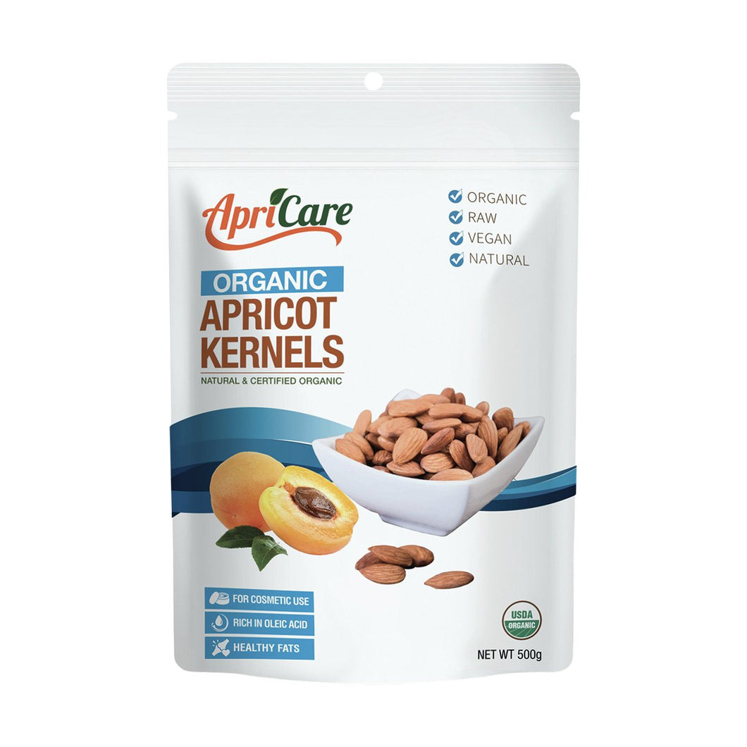 Apricare Apricot Kernels Organic Raw 500g