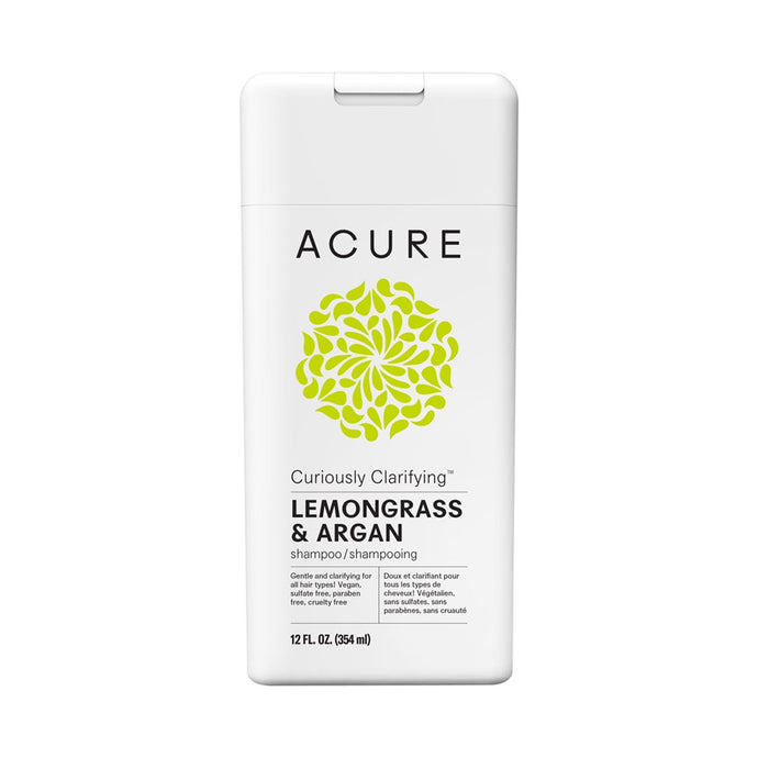 Acure Curiously Clarifying Shampoo Lemongrass & Argan Stem Cell 354 ml - GoodnessMe
