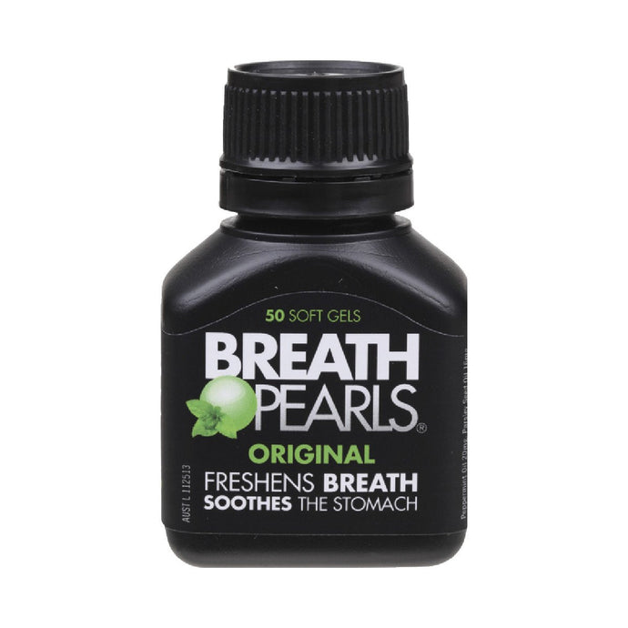 Breath Pearls Breath Freshener Original 50 SOFT GELS - GoodnessMe