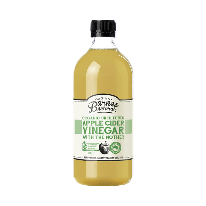 Barnes Naturals Apple Cider Vinegar Organic & Unfiltered 1L - GoodnessMe