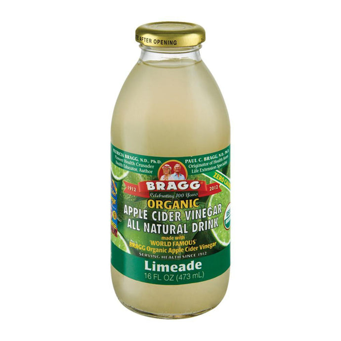 Bragg Apple Cider Vinegar Drink ACV with Limeade 473ml - GoodnessMe