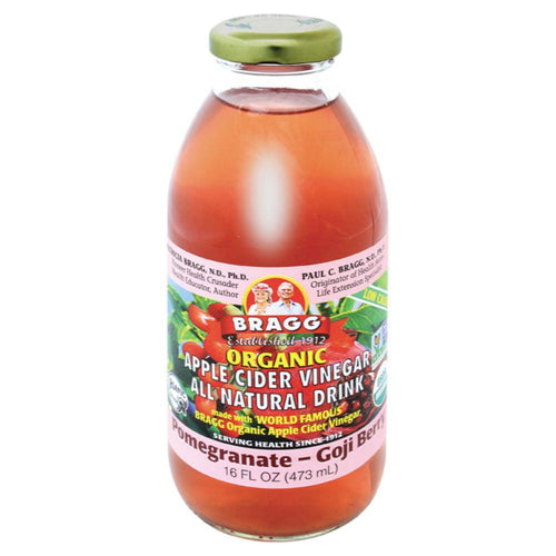 Bragg Apple Cider Vinegar Drink ACV with Pomegranate & Goji 473ml - GoodnessMe