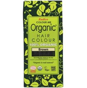 Radico Colour Me Organic - Hair Colour Powder - Dark Brown 100g - GoodnessMe