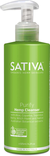 Sativa Hemp Cleanser Purify 125ml - GoodnessMe