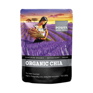 "Power Super Foods  Chia Seeds - Certified Organic ""The Origin Series"" 200g"